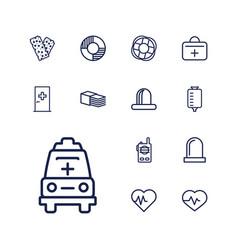 13 emergency icons vector