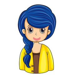 A business icon with a long blue hair vector