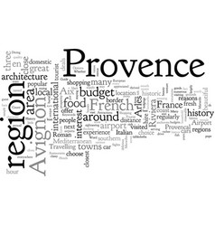 A tourist guide to provence vector