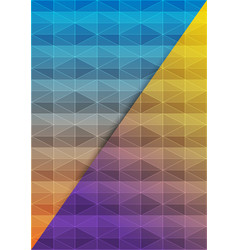 abstract geometric mosaic background of vector image