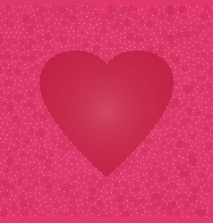 Abstract heart background futuristic vector
