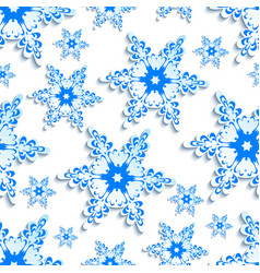 background seamless pattern stylized 3d snowflake vector image