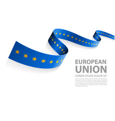 banner with eu flag colors vector image