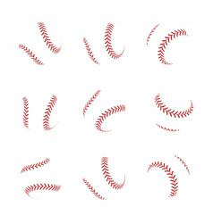 baseball ball set on white background vector image