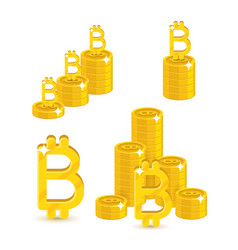 Bitcoin letter stacks vector