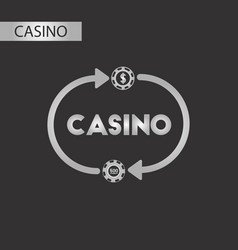 Black and white style casino chips vector