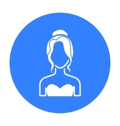 Blonde icon black single avatarpeaople icon from vector