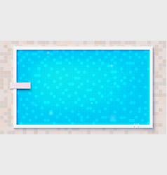 Blue ripped water in swimming pool and diving vector
