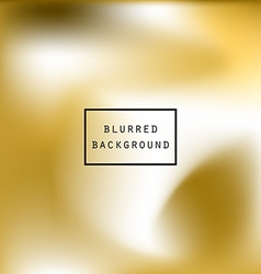 Blurred abstract gradient background gold white vector image