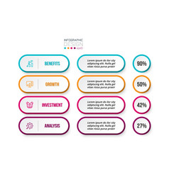 Business concept infographic template vector