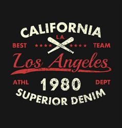 California los angeles vintage athletic clothes vector