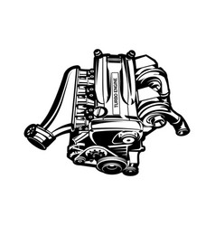 car engine turbo muscle car speedster vector image