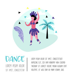carnival poster with dancing character people vector image