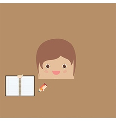 Cartoon doodle man rectangle of business vector