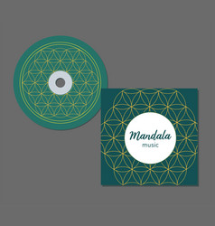 cd cover design with abstract geometry pattern vector image