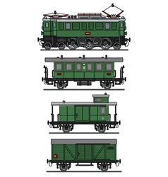 Classic electric train vector