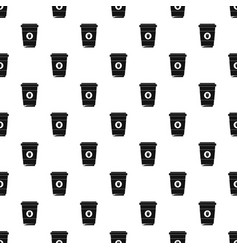 coffee plastic cup pattern seamless vector image