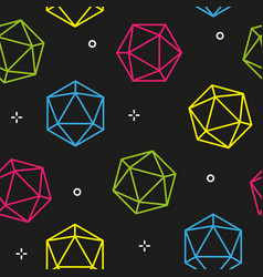 colorful line hexagon diamonds seamless pattern vector image