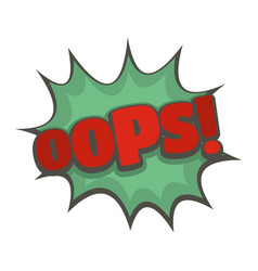 Comic boom oops icon flat style vector