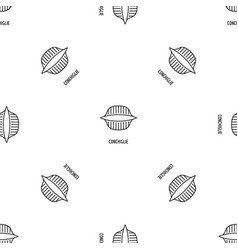 conchiglie pattern seamless vector image