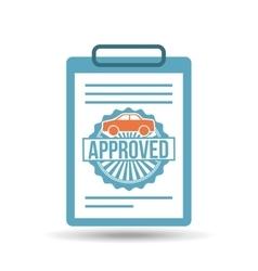 credit approved design vector image