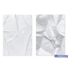 Crumpled sheet paper 3d realistic texture vector