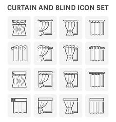 Curtain blind icon vector