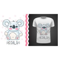 cute koala - idea for print t-shirt vector image