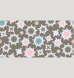 cute seamless pattern round shapes vector image
