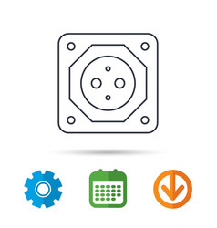 european socket icon electricity power adapter vector image