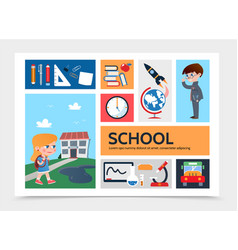 flat education infographic template vector image