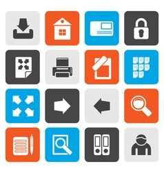 Flat Internet and Web Site Icons vector