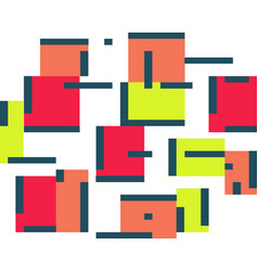 geometric abstract color background set of squares vector image