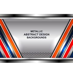 Geometric steel background vector