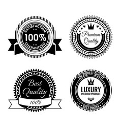 golden round reward seals collection vector image