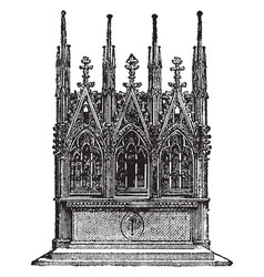 Gothic altar is an erection offering vintage vector