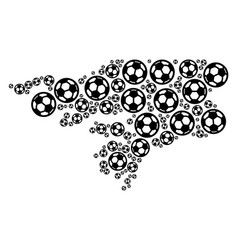 Guinea-bissau map collage of soccer balls vector