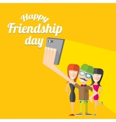 Happy friendship day background vector image