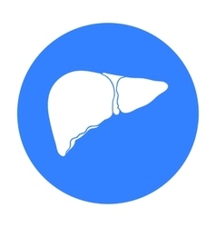Human liver icon in black style isolated on white vector