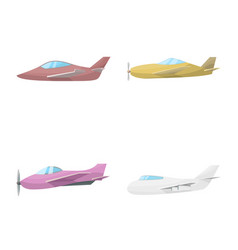 isolated object aircraft and commercial icon vector image