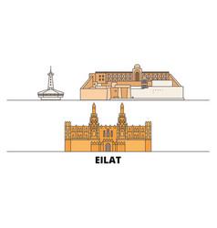 Israel eilat flat landmarks vector