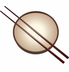 japanese bowl vector image