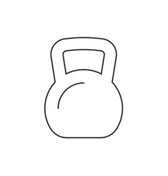 kettle bell line icon on white background vector image
