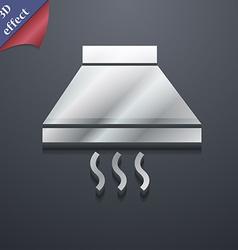 Kitchen hood icon symbol 3D style Trendy modern vector image