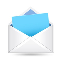 mail with sign vector image