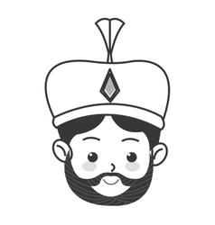Melchior magi icon vector