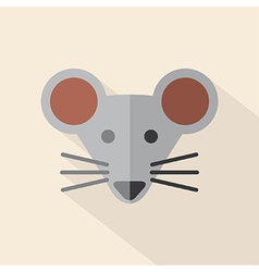 Modern Flat Design Mouse Icon vector