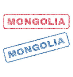 Mongolia textile stamps vector