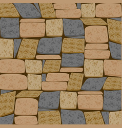 Multicolor brick textured background vector
