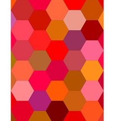 Multicolor hexagon mosaic background design vector